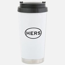 His & Hers (Black Oval) Stainless Steel Travel Mug