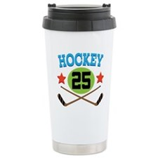 Hockey Player Number 25 Travel Mug