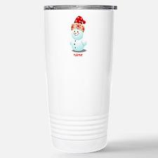Cute Baby Snowman Carto Thermos Mug