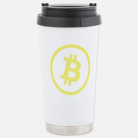 Bitcoin Logo Yellow 1000 Stainless Steel Travel Mu