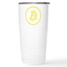 Bitcoin Logo Yellow 1000 Travel Mug