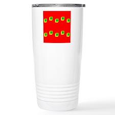 Christmas Beveled Squares Figgy Pudding Travel Mug