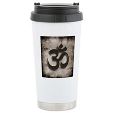 Om, Yoga by Vetro Jewel Travel Mug