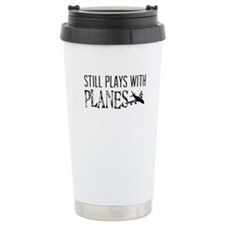 Cute Airplane pilot Travel Mug