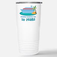 50th Anniversary Cruise Stainless Steel Travel Mug