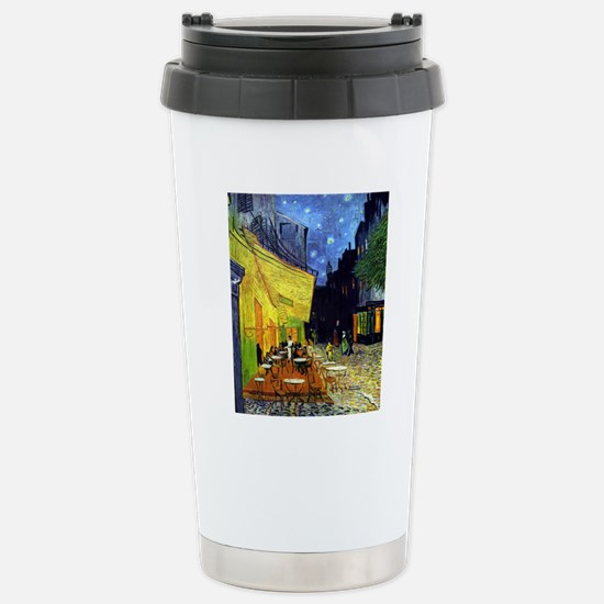 Cafe Terrace at Night b Stainless Steel Travel Mug