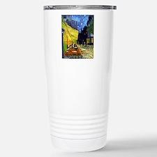 Cafe Terrace at Night b Travel Mug