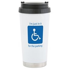 Cute Wheelchair funny Travel Mug