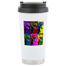 Dinosaur Popart Travel Coffee Mug