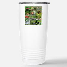 Beautiful colorful gard Stainless Steel Travel Mug
