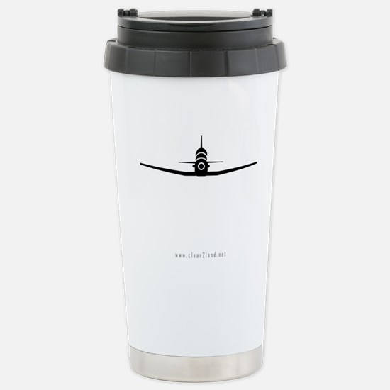 T-6 Shrunk Front Stainless Steel Travel Mug