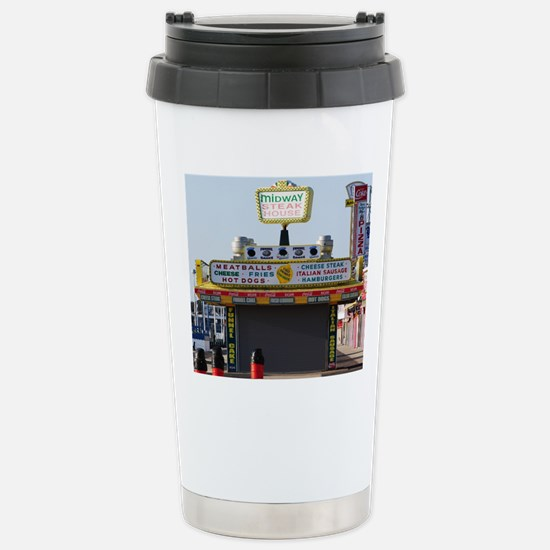 Midway Steak House Stainless Steel Travel Mug