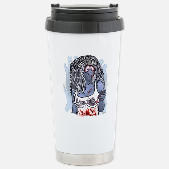 cELL Phone Zombe Stainless Steel Travel Mug