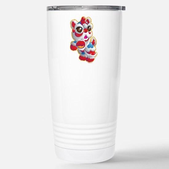 Cute Lion Dancer Stainless Steel Travel Mug