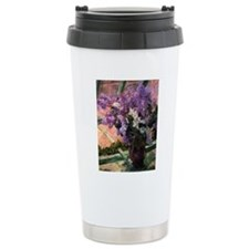 Lilacs in a Window by M Travel Mug