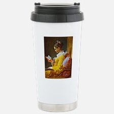 Young Girl Reading, pai Stainless Steel Travel Mug