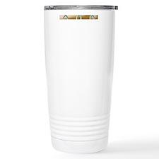 Quatrefoil Airbrush Travel Coffee Mug