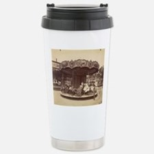Vintage Carousel Stainless Steel Travel Mug