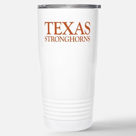 Texas Stronghorns Stainless Steel Travel Mug