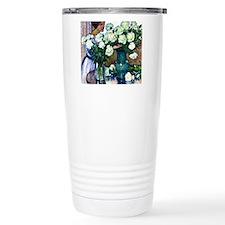 White Peonies - Theo va Travel Mug