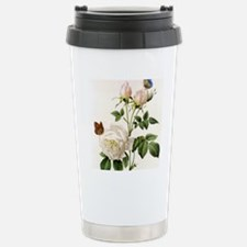 vintage botanical art.  Travel Mug