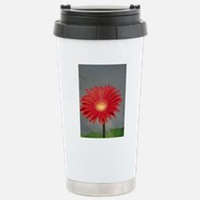 Red Gerber Daisy Travel Mug