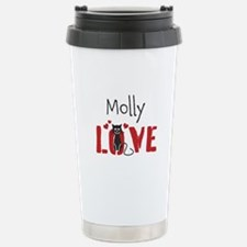 Personalize Kitty Love Stainless Steel Travel Mug