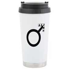 Alpha Male Symbol Travel Mug