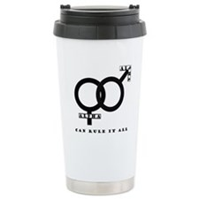 Alpha Male and Female United Travel Mug