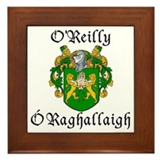 O'Reilly In Irish & English Framed Tile