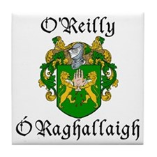O'Reilly In Irish & English Tile Coaster