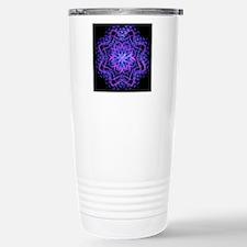 Pretty Purple Fractal Stainless Steel Travel Mug