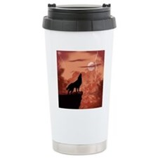 Howling In The Night Stainless Steel Travel Mug