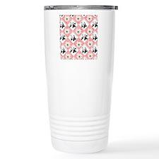 Pandas on Checker Board Travel Mug