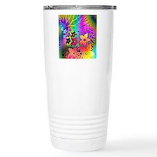 Rainbow colors floral d Travel Mug
