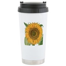 Vintage Sunflower Basil Travel Coffee Mug