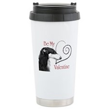 Be Mine Valentine Borzoi Travel Mug