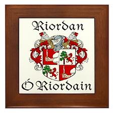 Riordan In Irish & Engish Framed Tile