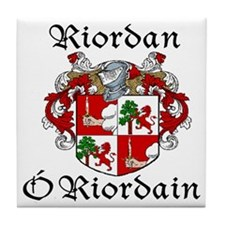 Riordan In Irish & Engish Tile Coaster