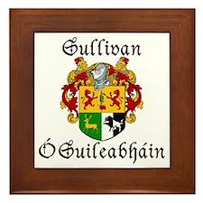 Sullivan In Irish & English Framed Tile