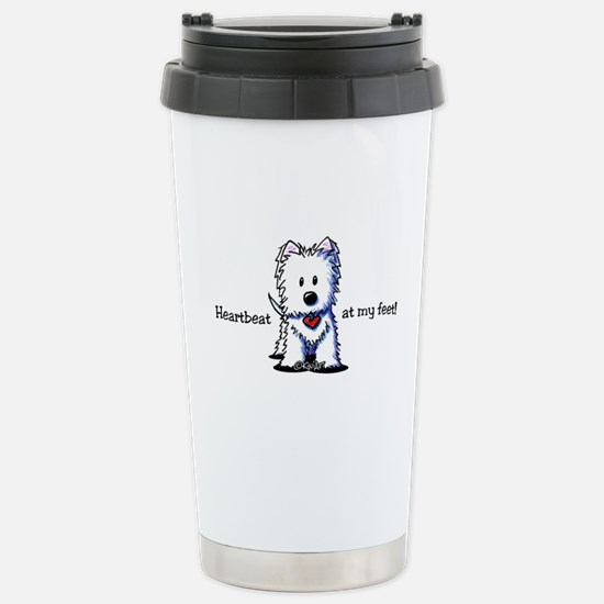 Westie Heartbeat Stainless Steel Travel Mug