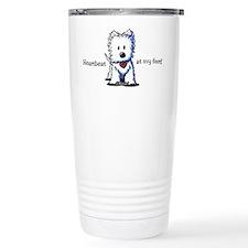 Westie Heartbeat Travel Coffee Mug