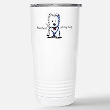 Westie Heartbeat Travel Mug