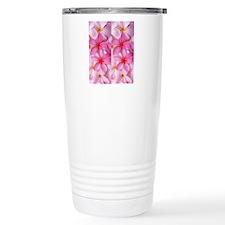 Pink Tropical Plumeria Travel Mug