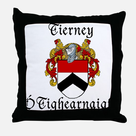 Tierney In Irish & English Throw Pillow