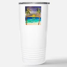 Tropical Sunset Stainless Steel Travel Mug