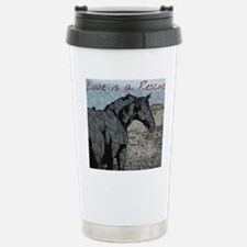 love is a rescue Stainless Steel Travel Mug