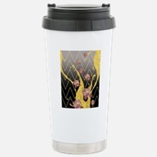 Elegant Glitter Rose Fl Stainless Steel Travel Mug
