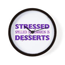 Stressed Desserts Wall Clock