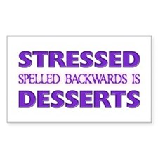 Stressed Desserts Rectangle Decal
